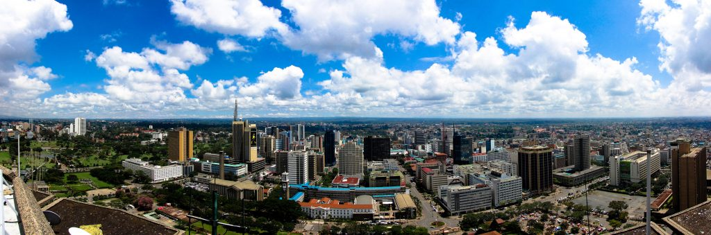 Africa - A panoramic view of Nairobi, Kenya's capital and commercial centre