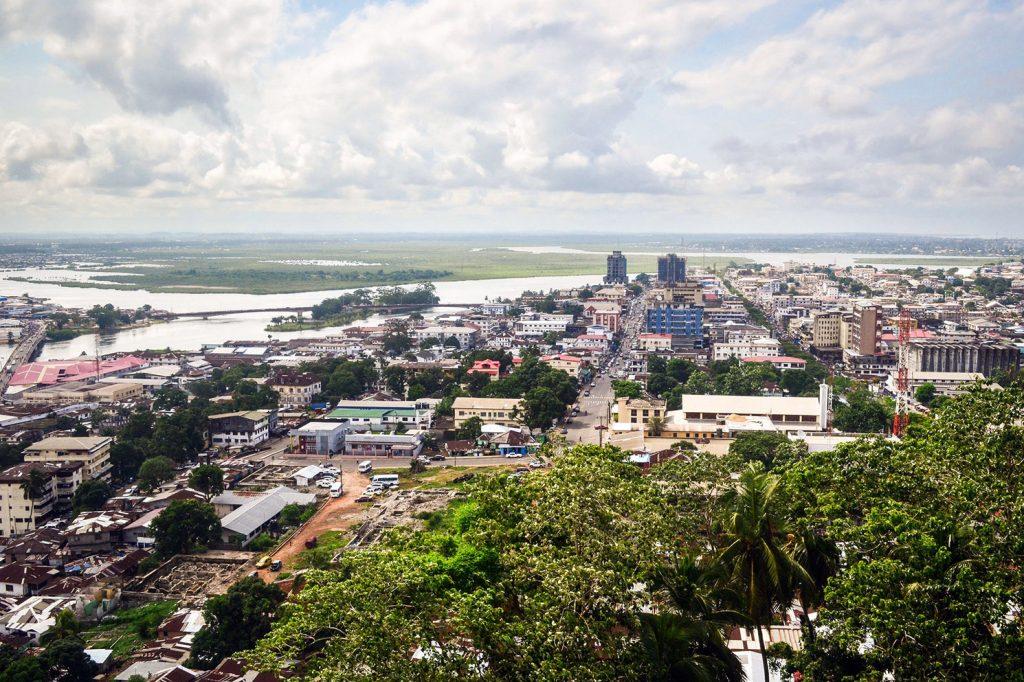 Africa - The coastal city of Monrovia, Liberia's capital