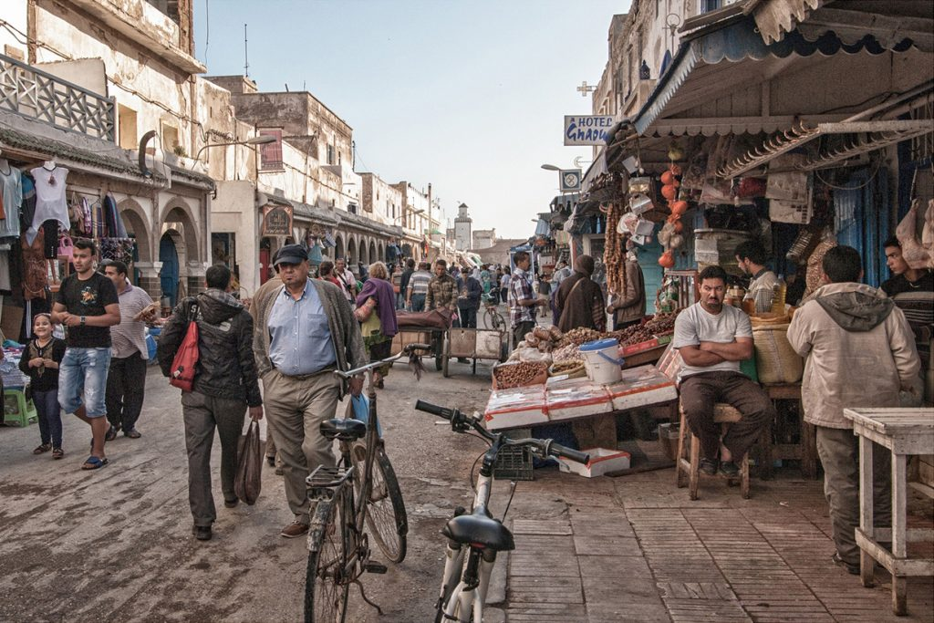 Africa - Street life in Essaouira, an ancient city in western Morocco on the Atlantic coast.