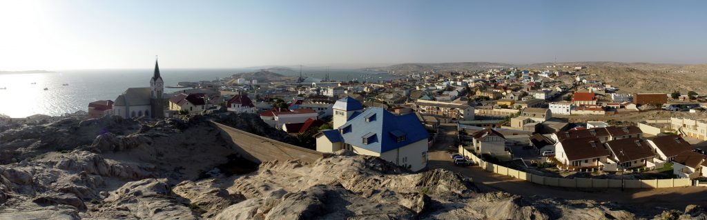 Africa - The pretty harbour town of Lüderitz on the forbidding west coast of Namibia