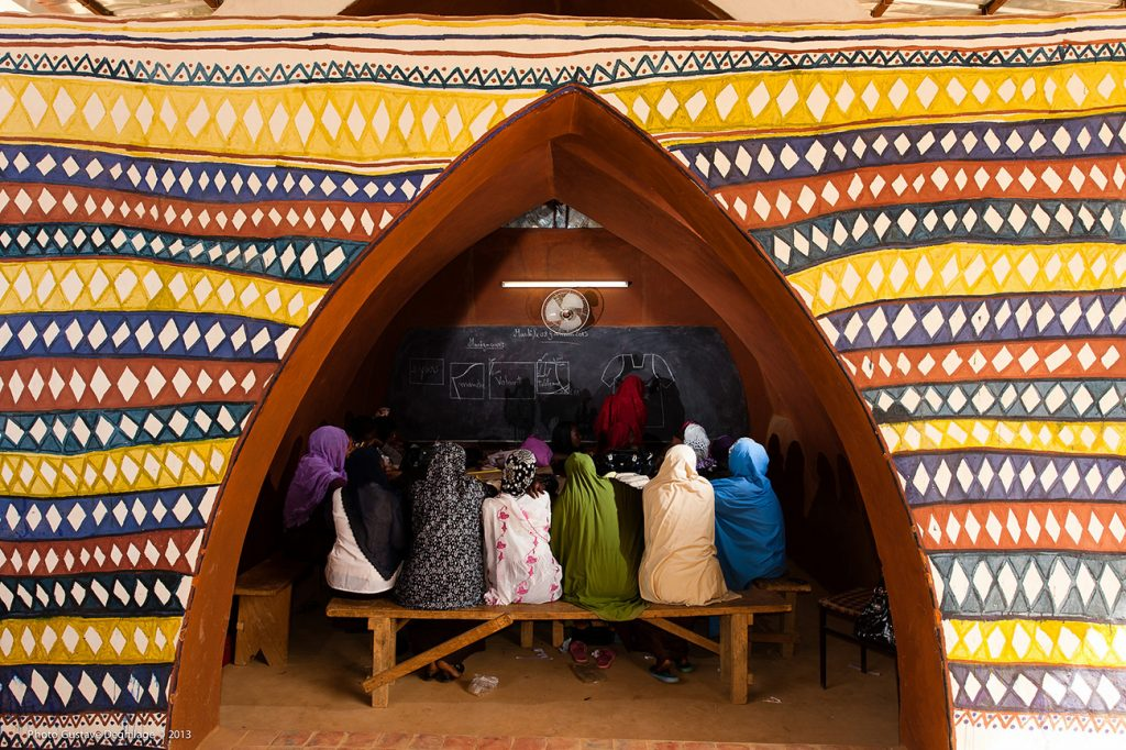Africa - A classroom at Carrefour Jeunesse Niger, a vocational dressmaking school in Niamey.