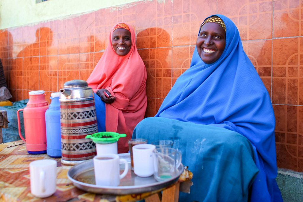 Africa - Women selling tea in Buur-Hakba, a city in southwestern Somalia some 180 kilometres inland from the coastal capital of Mogadishu.