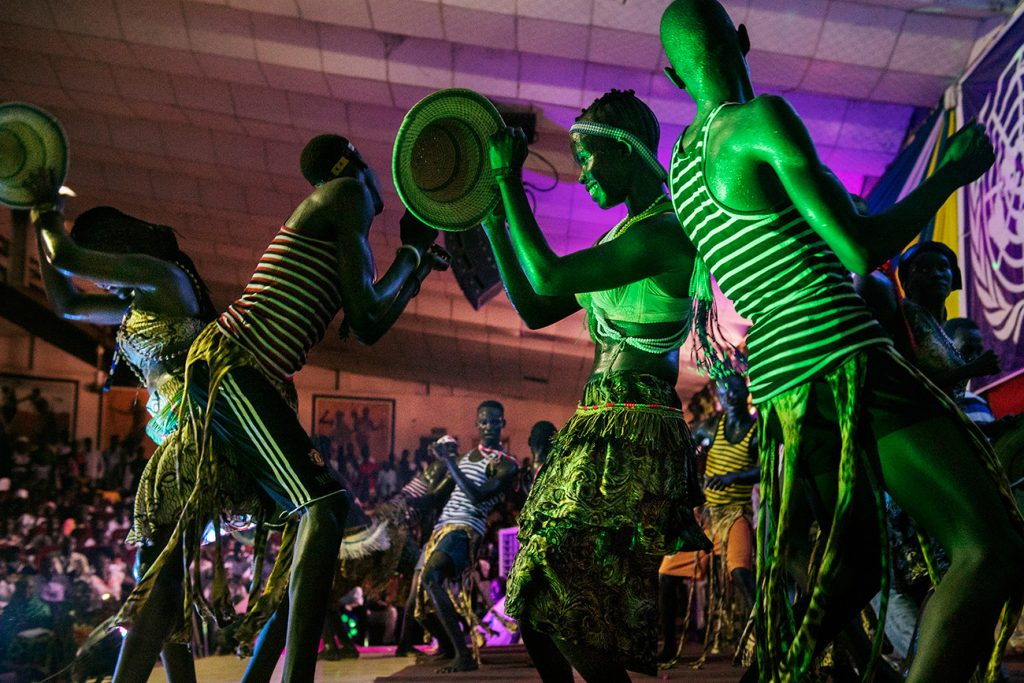 Africa - The Kush Dance Group performs at the Comedy for Peace event at the Nyakuron Cultural Centre in Juba on 23 April 2017. The event featured the best of South Sudanese comedians and musicians, including Emmanuel Kembe, Woklii, Feel Free, Lotole Captain Eddy and Kon Kuol Kon.