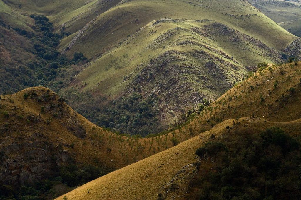Africa - Hillscape in the Malolotja Nature Reserve, Swaziland.