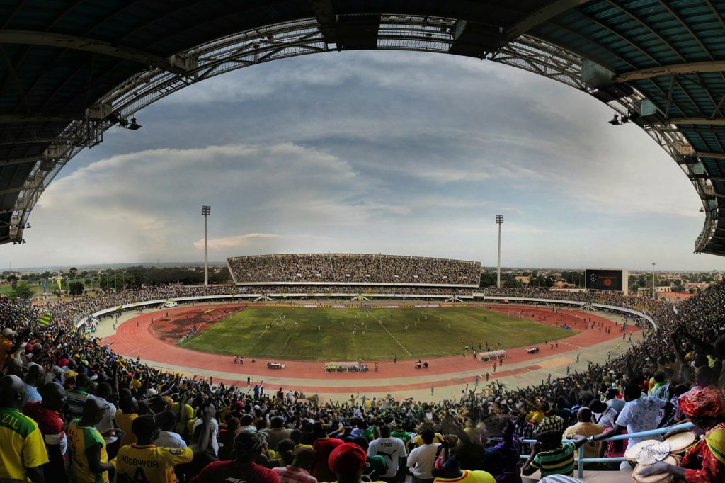 An African Cup of Nations qualifier football match between Togo and Gabon at the Stade de Kégué in Lomé, the Togolese capital, on 14 October 2012. Togo won by two goals to one.