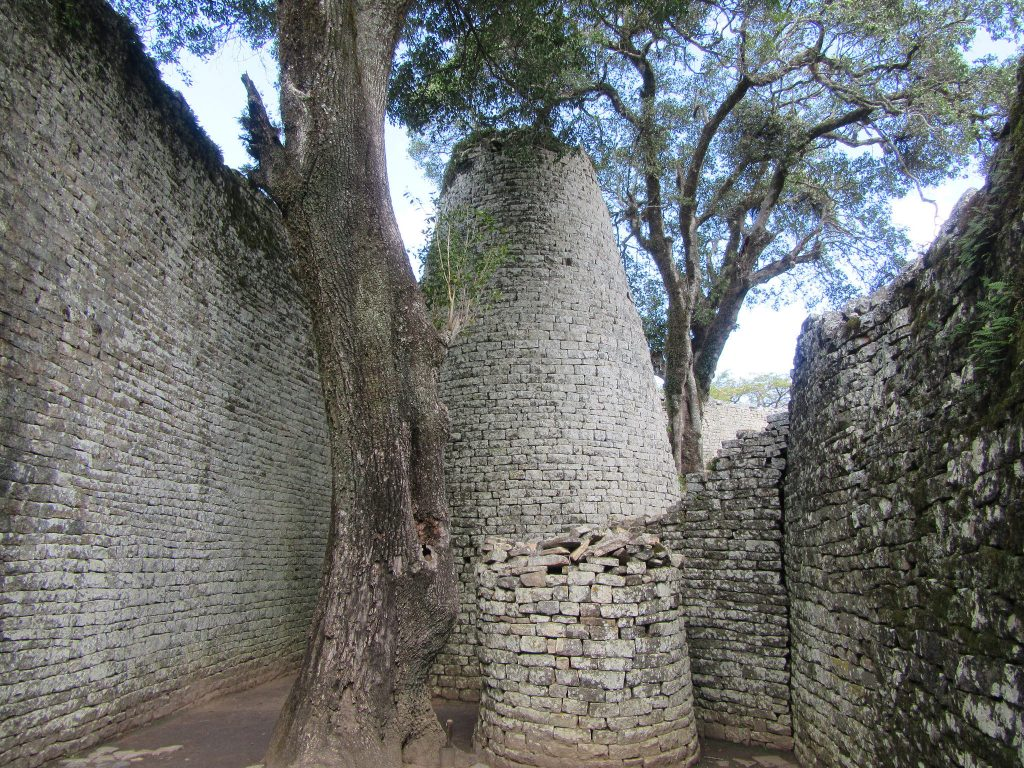 Africa - Inside the citadel of Great Zimbabwe, the ancient Shona city in the southeastern province of Masvingo. The 722-hectare city was the capital of the medieval Kingdom of Zimbabwe, which flourished for over two centuries, from 1220 to 1450.