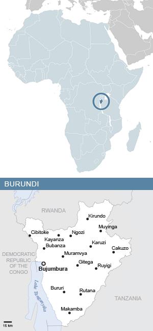 Map of Burundi and Africa