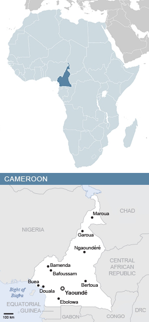 Map of Africa and Cameroon - South Africa Gateway