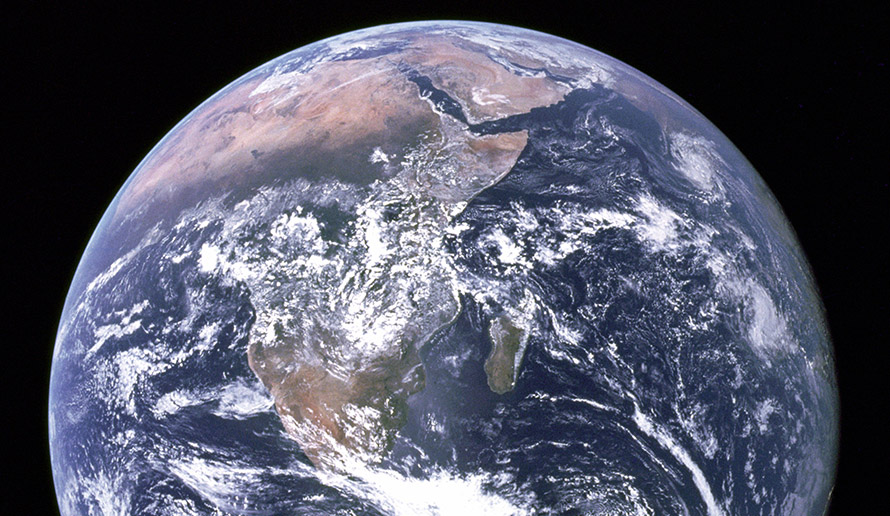 Africa in Nasa's Blue Marble photo of the earth, taken by astronauts on board Apollo 17 in 1972