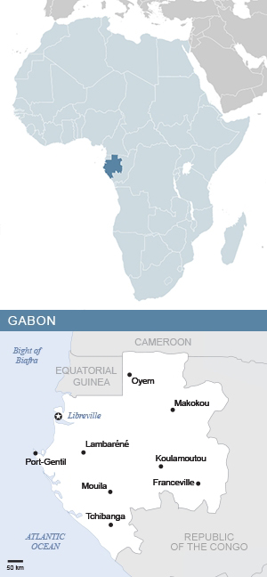 Map Of Africa And Gabon South Africa Gateway