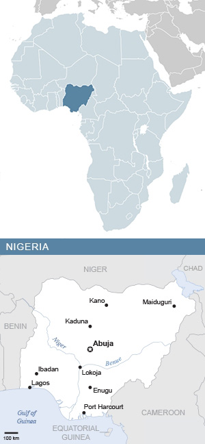 Map of Nigeria and Africa