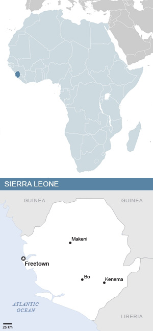 Map of Sierra Leone and Africa