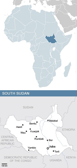 Map of Africa and South Sudan - South Africa Gateway
