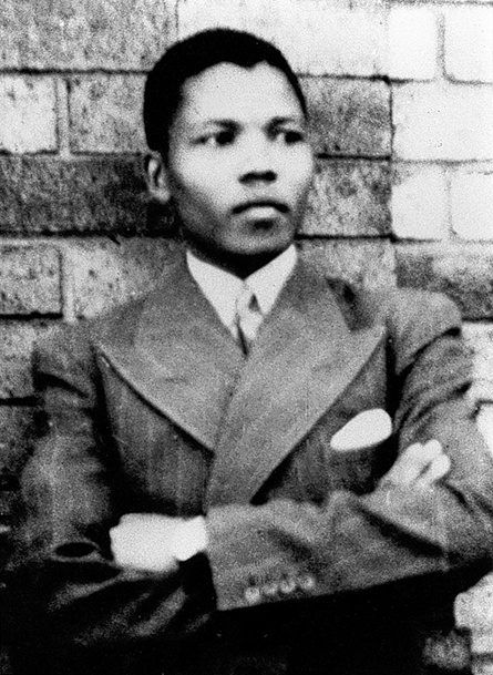 Nelson Mandela in Mthatha in 1937, aged 19.