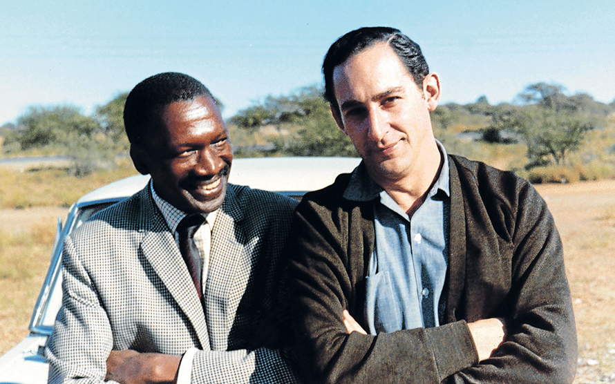 Robert Sobukwe with his friend Benjamin Pogrund after Sobukwe's release from Robben Island in 1969. Pogrund, a journalist, is the author of Robert Sobukwe - How can Man Die Better, a compelling biography of the man.