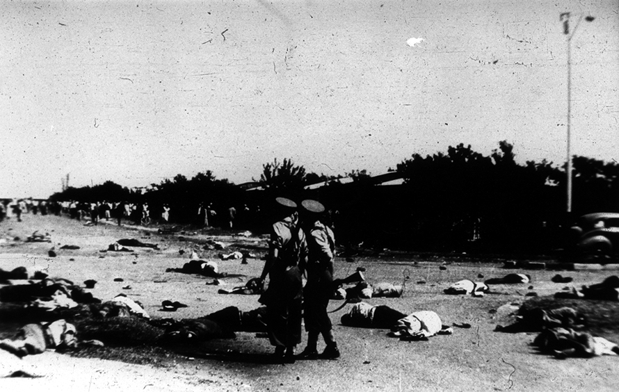 21 March 1960, the aftermath of the Sharpeville Massacre. Sixty-nine people were shot dead by police and a further 180 wounded. (University of the Western Cape Robben Island Mayibuye Museum Archive)