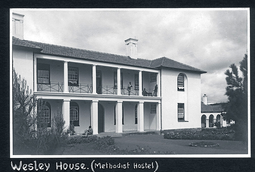 Wesley House, the Methodist hostel at the University of Fort Hare where Robert Sobukwe likely stayed during his studies.