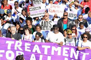 Treatment Action Campaign (TAC) marches to handover memorandumamongst them is the Deputy President Cyril Ramaphosa and the UNAIDS Executive Director Michel Sidibé, Durban, 18/07/2016.