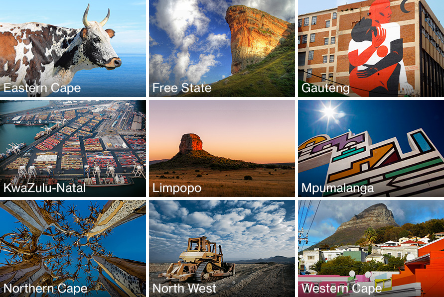 Images from South Africa's nine provinces